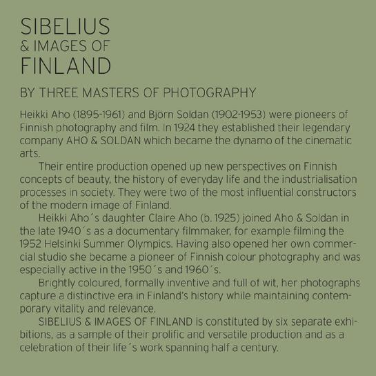 SIBELIUS & IMAGES OF FINLAND - PHOTO EXHIBITION, ACADEMIC BOOKSTORE, FINLAND